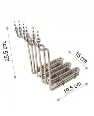 Sanayi tipi fritöz rezistansı 3 x 2500W 380V 8,5 Cr-Ni
