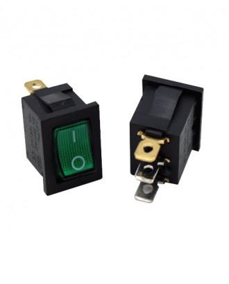 Mini ışıklı anahtar (yeşil)