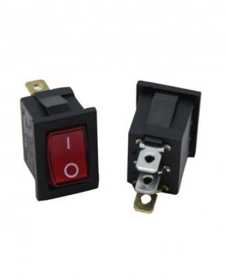 Mini ışıklı anahtar (kırmızı)