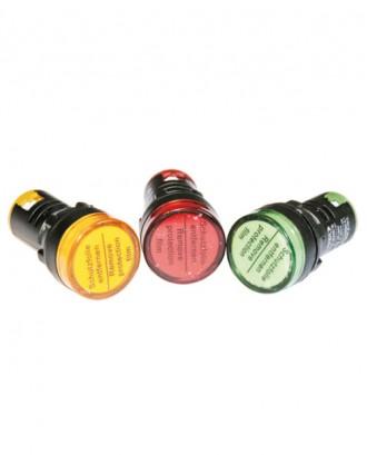 Ledli 22 mm. sinyal lambası sarı-kırmızı-yeşil