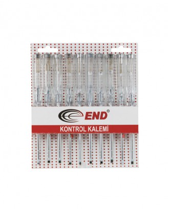 Çelik uçlu kontrol kalemi (Düz) 10 Adet