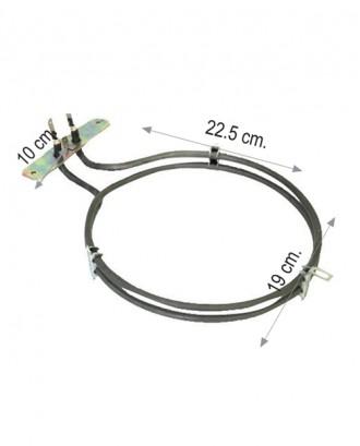 Turbo fırın rezistansı 2600 W 220 V 6.5 Cr-Ni