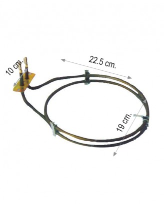 Turbo fırın rezistansı 2250 W 220 V 6.5 Cr-Ni