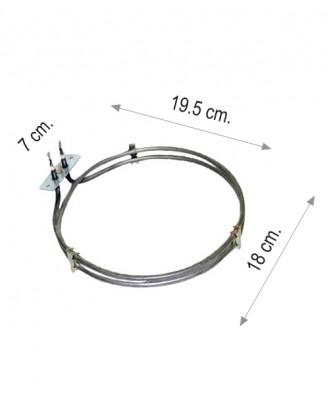 Turbo fırın rezistansı 1500 W 220 V 6.5 Cr-Ni