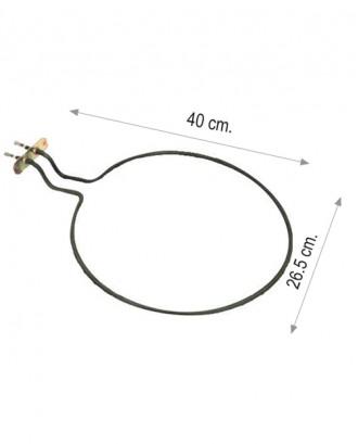 İnce fırın rezistansı flanşlı (Ördek kafa) 650 W 220 V 6.5 Cr-Ni