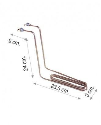 Sanayi tipi fritöz rezistansı 1750W 220V 6,5 Cr-Ni