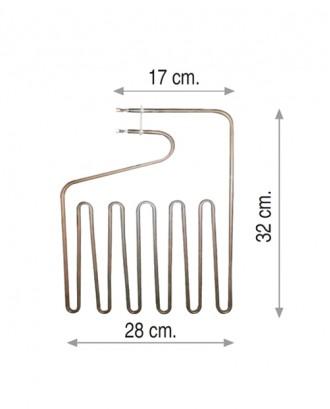 Sauna rezistansı 2500 W 220 V 8.5 0 Cr-Ni
